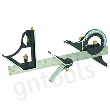 """12"""" COMBINATION SQUARE WITH ANGLE FINDER AND PROTRACTOR LEVEL ENGINEERS BUILDERS"""