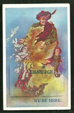 Edinburgh Map Man Kilt leporello Scotland 30s
