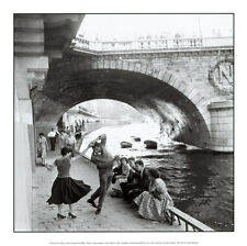 Rock 'n' Roll sur les Quais de Paris Art Poster Print by Paul Almasy, 12x12