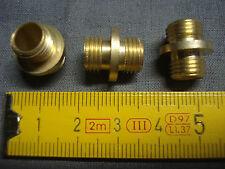 2 raccord laiton portée double mâle pas 10 x 1 mm