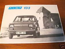 Antiguo folleto original Fiat 133 1975 brochure folleto Fiat alemana AG rar