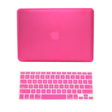 "2 in 1 HOT  PINK Rubberized Case for Macbook Pro 13"" A1425 Retina + Key Cover"
