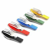 3in1 Folding Spoon Knife Fork Portable Set Kit For Outdoor Travel Camping Picnic