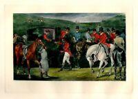 1869 Stampa Antica CACCIA ALLA VOLPE Incisione Vittoriana ENGLAND Old Print