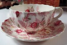 Spode Copeland  Made In England Rosebud Chintz  Cup & Saucer