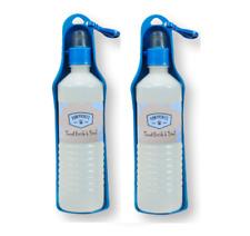 BOTTIGLIA DA VIAGGIO + Vassoio - (400ml x 2) - Cane Portatile Acqua Abbeveratoio KF Pet Cup