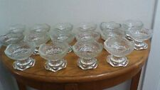 Vintage Anchor Hocking Heavy Glass Fruit Cups, USA
