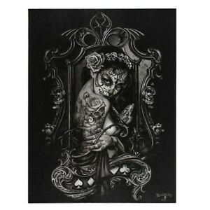 WIDOWS WEEDS ALCHEMY SMALL GOTHIC CANVAS PICTURE ART PRINT MUERTE BUTTERFLY LADY