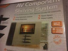 AVF Nexus NXS300PB AV Estantería de montaje en pared para Digi Cajas/Cielo/Ps-Negro piano