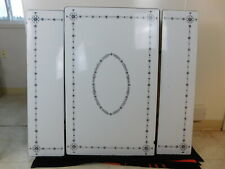 1950's Parts Top Only Enamel Ext Kitchen Table Black White Daisy Flowers Stencil