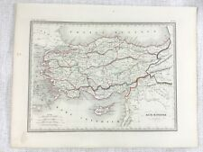 1846 Antique Map of Ancient Asia Minor Antiquity Rare Hand Coloured Engraving
