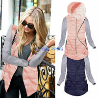 New Womens Warm Thin Quilted Padded Hooded Hoody Outwear Ladies Tops Jacket Coat