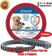 2 Pack - Flea & Tick Collar for Dogs & Puppies, Up To 12 Months Protection