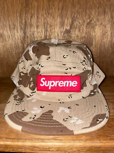 Supreme Military Camp Cap Tan Brown Camo Hat