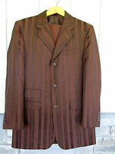 Vintage Mens Suit Brown Coat Jacket and Pants