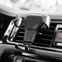 Universal Adjustable Phone Holder Car Air Vent Gravity Design Mount Cradle Stand