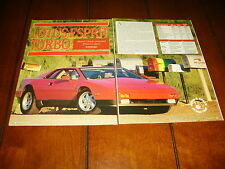1988 LOTUS ESPRIT TURBO ***ORIGINAL ARTICLE / SPECIFICATIONS***