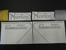 NORTON COMMANDO 750 TANK AND SIDE COVER DECALS WITH PIN STRIPE