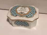 Vintage Franklin Porcelain Music Box The Melodies Of Love 1981 OUR LOVE