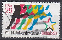 USA Briefmarke gestempelt 29c University Games Buffalo 1993 Rundstempel / 1658