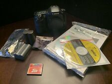 Canon 10D model DSLR camera body and extras