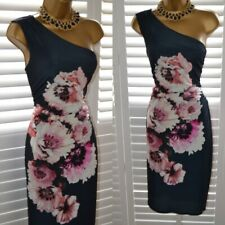 ~ WALLIS ~ Size 14 One Shoulder Ruched Dress Wedding Occasion Holiday