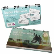Senior Moments Wit & Wisdom Sarcasm Spiral Bound Desk/Wall Signs Retirement gift