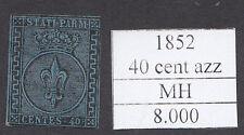 italy asi parma 1852 il 5 cent e 40 cent azzurro nuovi MH cat 8280