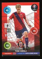 128 TOM HOGLI NORWAY NORGE CARTE CARD ADRENALYN ROAD TO UEFA EURO 2016 PANINI D