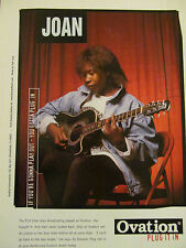 Joan Armatrading, Ovation Guitars, Full Page Vintage Promotional Ad
