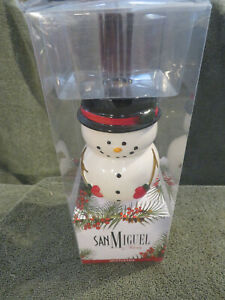 San Miguel Snowman Essential Oil Reed Diffuser. Mistletoe Scent. Holiday