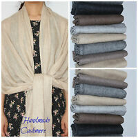 Pure Cashmere Shawl Scarf Pashmina Shawl Wrap Handmade Super Soft Delicate Light