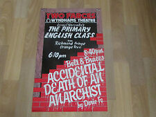 Primary English Class & Death of an ANARCHIST 2 Farces  WYNDHAMS Theatre Poster