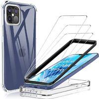 Vitre Verre Trempé Ecran+ Coque Etui iPhone 12 Pro Max/12 Mini/11/XS/XR/8/7/6/SE