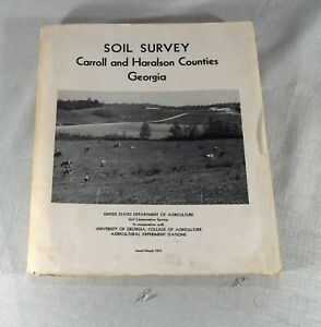 Georgia Soil Survey : Carroll & Haralson Counties with Black & White Maps  1971