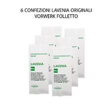 CONFEZIONE LAVENIA 6 BUSTE 120 GRAMMI ORIGINALE VORWERK FOLLETTO  - 51389