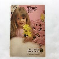 Vintage 1970 FTD Flower Selection Guide Floral Gift Catalog Advertising Booklet