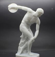 Large Discobolus of Myron (The Discus Thrower) Marble Sculpture Art