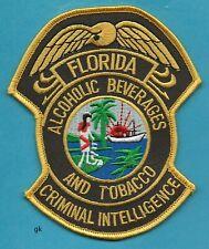FLORIDA  ALCOHOLIC BEVERAGE TOBACCO POLICE CRIMINAL INTELLIGENCE PATCH