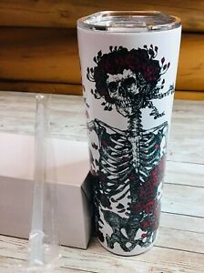 Brand New Personalized 20oz Grateful Dead Bertha Tumbler with Lid and Straw