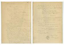 ANTIK Alte Handschrift Urkunde Verhandlungsurkunde Sömmerda 1863