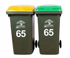 2x Wheelie Rubbish Garbage Bin Sticker House Number Decal