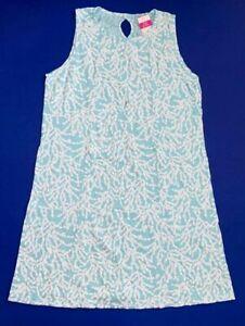 FRESH PRODUCE XL Seaglass BLUE CLUSTERS $69.00 MARISSA Key Hole Dress NWD
