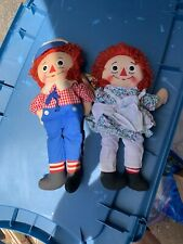 "KNICKERBOCKER RAGGEDY ANDY  & Annie STUFFED DOLL. MADE IN TAIWAN. KTC 16"" B10"