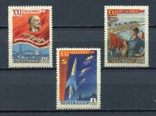 28193) RUSSIA USSR 1959 MNH** 21st Communist Party - Space 3v