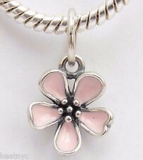 CHERRY PINK BLOSSOM Bead Sterling Silver .925 Fits European Charm Bracelets 969