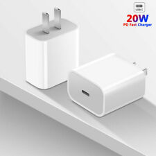 For iPhone 12 Mini/11/Pro Max/XR/iPad Fast Charger 20W USB C PD Adapter Type-C