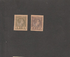 MONACO 1885 1st AND 2nd IMPERF MINT STAMPS
