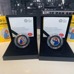 ❇ Paddington Bear at the Station & Palace 50p Coin Set Silver Proof 2018 ❇