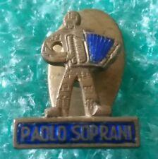 PAOLO SOPRANI ITALIAN ACCORDION FACTORY  OLD PIN BADGE MUSIC